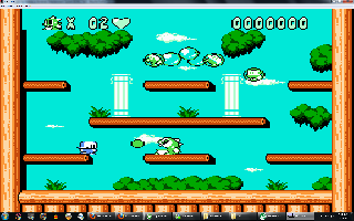 Screenshot Thumbnail / Media File 1 for Bubble Bobble Part 2 (USA) [Hack by Dragon Eye Studios v0.15] (~Bubble Bobble Madness 2)
